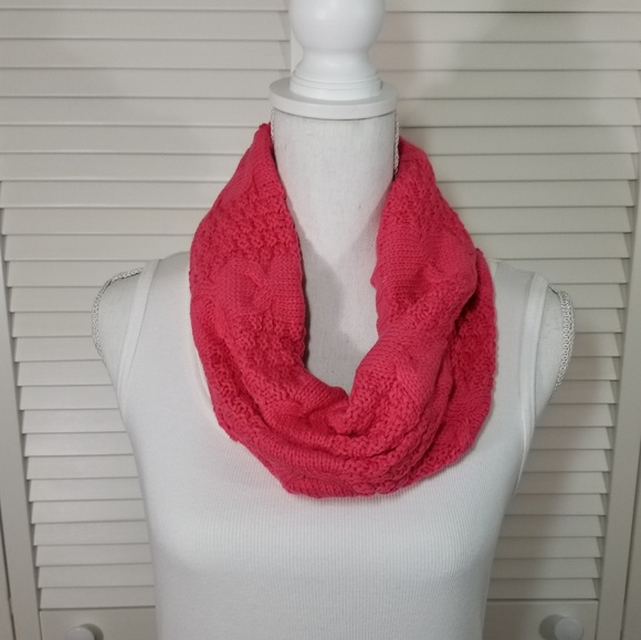 Accessories Cable Knit Small Infinity Scarf Pink New Poshmark